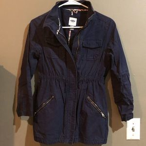 Old Navy Girls Large Navy Utility Coat